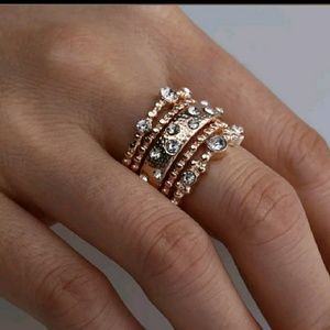 Jewelry - 🆕Rose Gold Look 5 Rings Bohemia Ring NEW